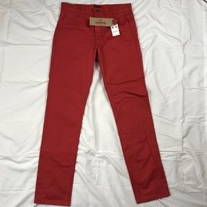 Brand New Red Levi's 511 Slim Fit Trousers 29x32